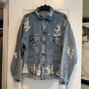 Carmar Distressed Denim Jacket